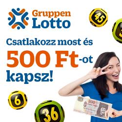 GruppenLotto-500Ft a tiéd azonnal